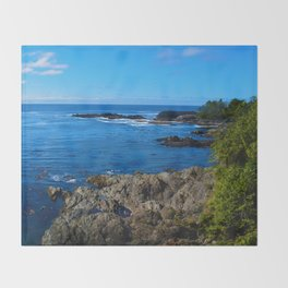 Wild Pacific Trail, Ucluelet BC Throw Blanket