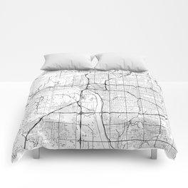 Tulsa Map White Comforters