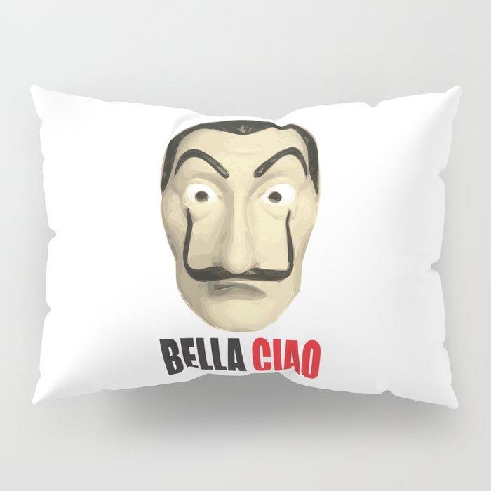 Dalí Mask La Casa de Papel Bella Ciao Pillow Sham