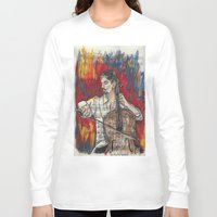 cello Long Sleeve T-shirts featuring Cello 1 by Ed Rucker