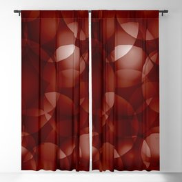 Dark intersecting burgundy translucent circles in bright colors with a brick glow. Blackout Curtain