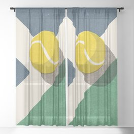 BALLS / Tennis (Hard Court) Sheer Curtain