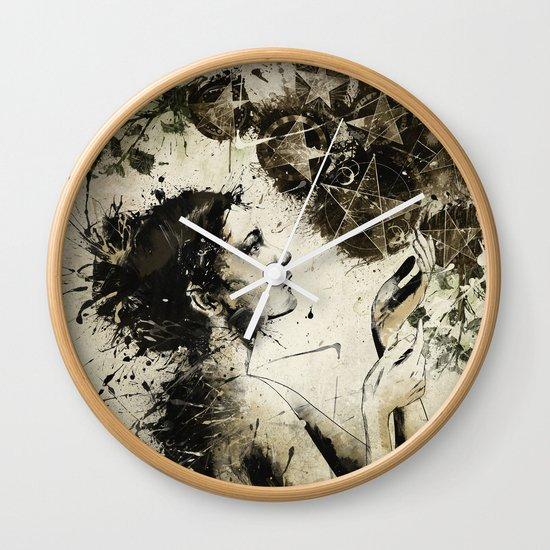 7 of Pentacles Wall Clock