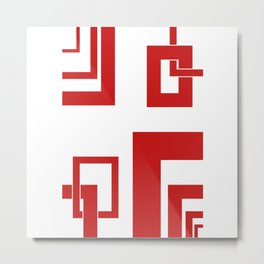 4.6 - frames - red Metal Print