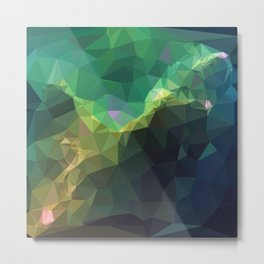Galaxy low poly 3 Metal Print