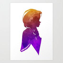 Princess Inspired Silhouette Art Print