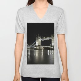 Tower Bridge is one of five London bridges now owned and maintained by the Bridge House Estates Unisex V-Neck