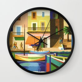 The French Riviera Wall Clock