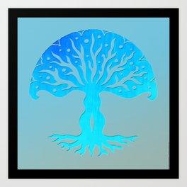 Tree of Life Woodcut Art Print