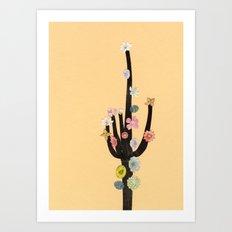 Flowering Cactus Art Print