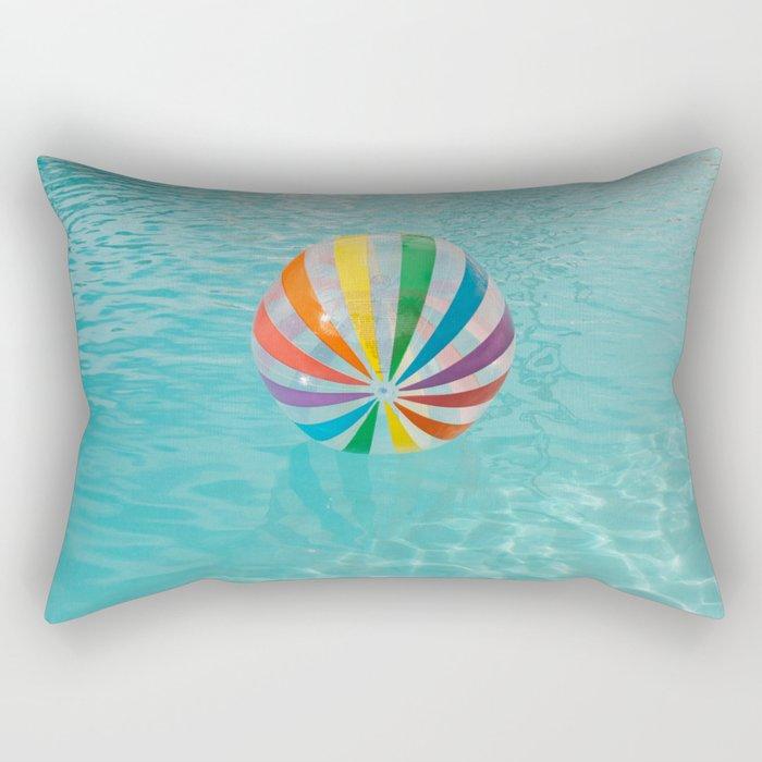 Palm Springs Pool Day Rectangular Pillow