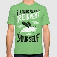 It´s always possible to reinvent yourself LARGE Grass Mens Fitted Tee