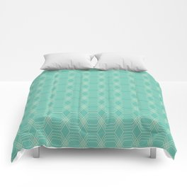 hopscotch-hex sea Comforters