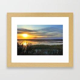 Sunset over Tundra Lake (ALASKA)  Framed Art Print