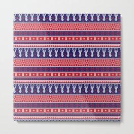 Nordic Fair Isle Christmas Pattern 2 Metal Print