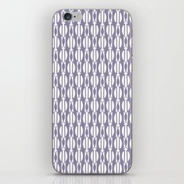 NIGH mauve and white weave a smock pattern iPhone Skin
