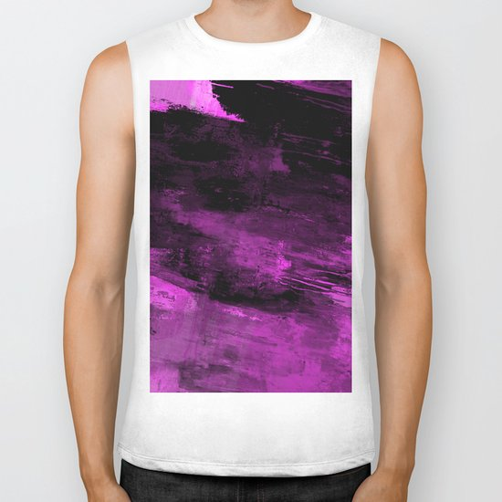 Purple Haze - Abstract, purple and black painting Biker Tank