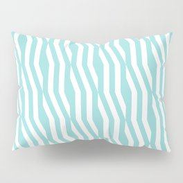 Abstract geometric zigzag pattern in limpet shell Pillow Sham