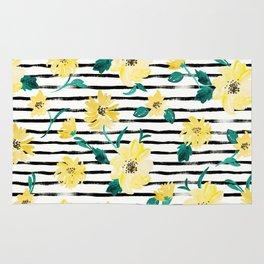 Happy flowers Stripe Rug