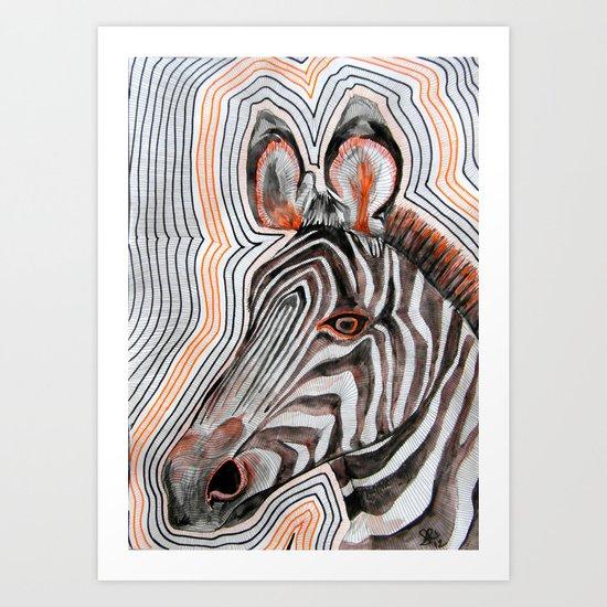 zeberahhhh! Art Print