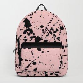 Splat Black on Blush Boarder 2 Backpack