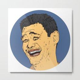 Yao Ming Metal Print