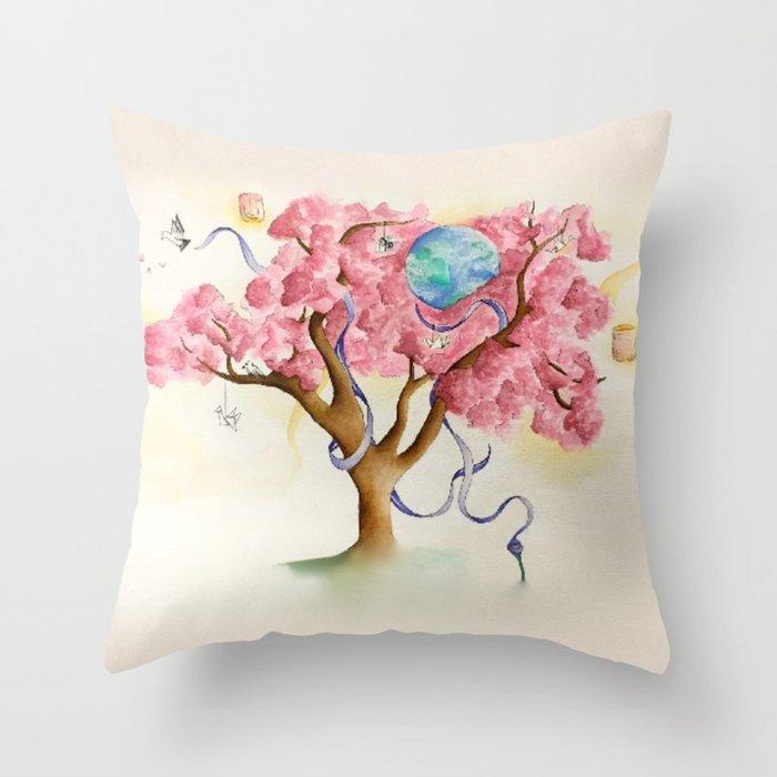 Peace Treety Throw Pillow