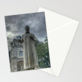 St. Paul's monument on the rainy day at St. Paul's Church (Melaka) Malacca City, Malacca, Malaysia Stationery Cards