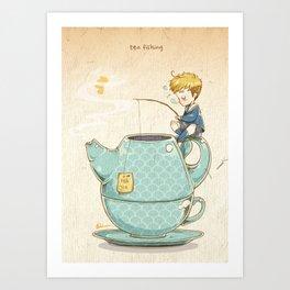 Tea Fishing Art Print