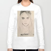 cara delevingne Long Sleeve T-shirts featuring Cara Delevingne by Moira Sweeney