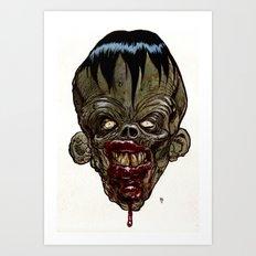 Heads of the Living Dead Zombies: Evil Genius Zombie Art Print