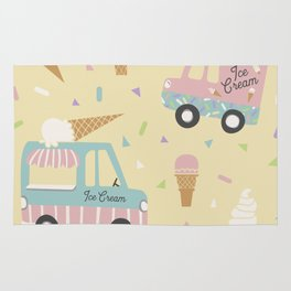 Ice Cream Trucks and Treats Rug