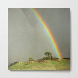Lincolnshire Wolds Rainbow Metal Print