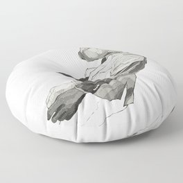 Falling Mr. Lapin Floor Pillow