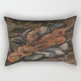 Prawns and Mussels Rectangular Pillow