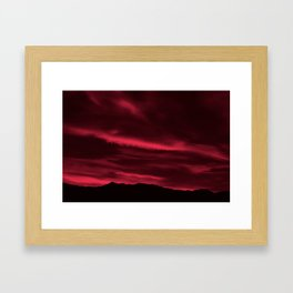 SW Burgundy Sunrise Framed Art Print