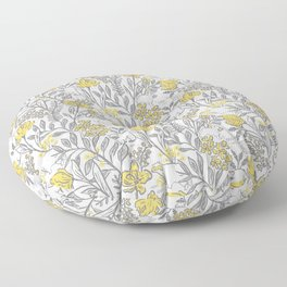 Creatures Of The Wood-Grey and White Floor Pillow