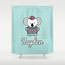 Custom Koala Jayden Shower Curtain