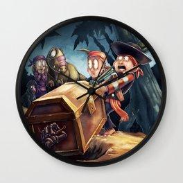 Denny and Company Buried Treasure Wall Clock