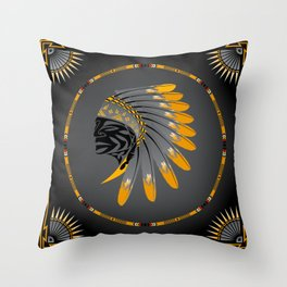 Honor and Strength Yellow Throw Pillow