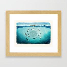 Porpoises Framed Art Print