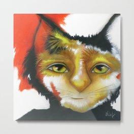 Cat abstract original painting Deb Harvey art Oppee  Metal Print