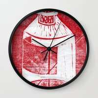 whisky Wall Clocks featuring Ol' Whisky Bottle by Shane Haarer