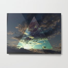 Night Triangle Metal Print