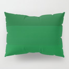 Rich Forest Evergreen Stripes Ombre Pillow Sham
