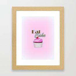 Eat Cake - Typography Framed Art Print
