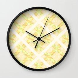Summer Diamond Lattice Wall Clock