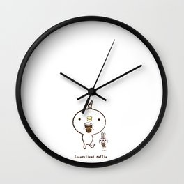 Peter and Mimi at Connecticut Muffin Wall Clock