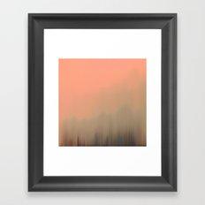 Empty Fog Framed Art Print