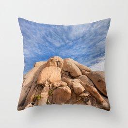 Joshua Tree Rocks Throw Pillow